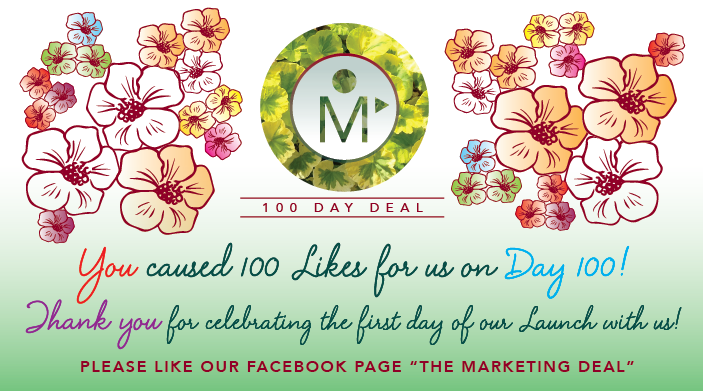 TMDDeal Launch Day 100 Likes Thank You Day 100-01